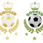 Soccer balls — Stock Vector