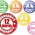 Set of warranty stamps — Stock Vector