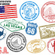 Stamps with United States of America — Stok Vektör