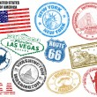 Royalty-Free Stock ベクターイメージ: Stamps with United States of America