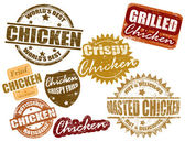Set of chicken stamp — Stockvector