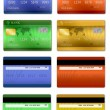 Set of credit cards — Stock Vector #8522699