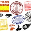 Stamps with Spain - Stock Vector