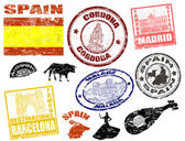 Stamps with Spain — Stock Vector