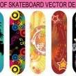 Royalty-Free Stock Vector Image: Set of skateboard designs