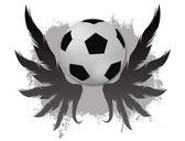 Winged soccer ball — Stock Vector