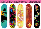 Set of skateboard designs — Stock Vector