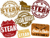 Steak stamps — Stock Vector