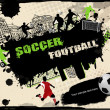 Urban soccer background - Stock Vector