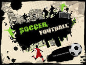 Urban soccer background — Stock Vector