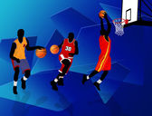 Giocatori di basket — Vettoriale Stock