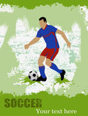 Soccer poster background — Stock Vector