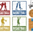 Basketball stamps — Stock Vector #8885284