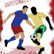 Football poster background - Stockvektor