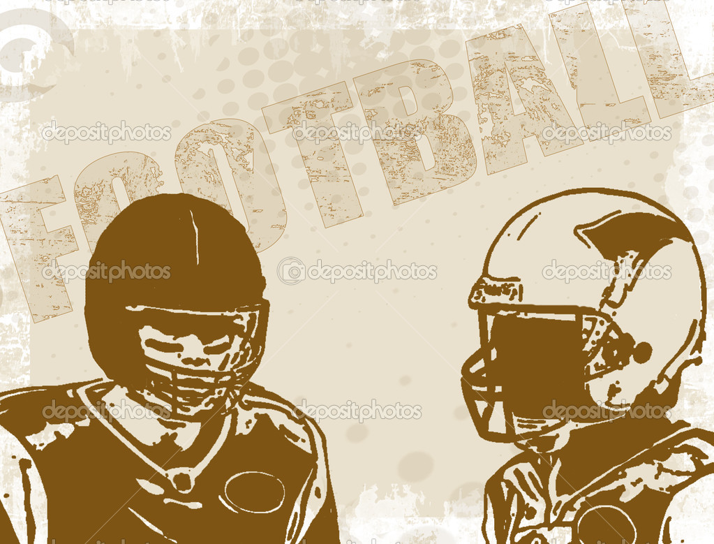Brown american football poster background, vector illustration  Stock Vector #8904662