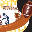American football poster background — Stock Vector