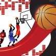 Stock Vector: Basketball poster background