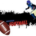 cartel de fútbol americano Grunge — Vector de stock