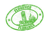 Florence stamp — Stock Vector