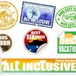 Royalty-Free Stock Obraz wektorowy: Set of vacation labels and stamps