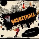 Urban basketball background — Stock Vector