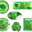 Earth Day stickers set — Stock Vector
