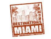 Miami stamp — Stock Vector