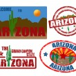 Set of Arizona stamps - Stock Vector