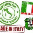 Made in Italy stamps — Stock Vector #9686107