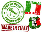 Made in Italy stamps — Stock Vector