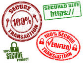 Secure stamps — Stock Vector