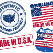 Royalty-Free Stock Vector Image: Made in USA stamps