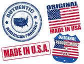 Made in USA stamps — Stock Vector