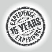 15 years experience stamp — Stock Vector