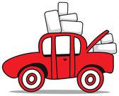 Car boots sale cartoon — Stock Vector
