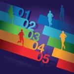 Running background — Stock Vector