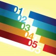 Stock Photo: Abstract number line background