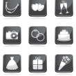 Royalty-Free Stock Photo: Set of wedding icons