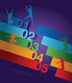 Abstract number line background — Stock Photo