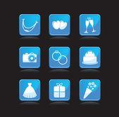 Set of wedding icons — Stock Photo