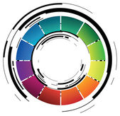 Abstract coloured ring — Stock Vector