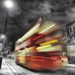Bus in london during the night — Stock Photo