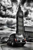Taxis in london — Stock Photo