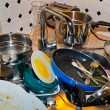 Cluttered kitchen - Stock Photo