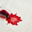 Red wine is poured — Stock Photo
