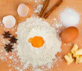 Ingredients for baking. christmas cookies — Stock Photo