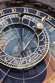 Prague astronomical clock on old town hall — Fotografia Stock