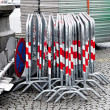 Fences for a road barrier — Stock Photo