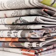 Stacks of old newspapers and magazines — Stock Photo #10425436