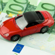Stock Photo: Car € bills. car costs, financing, l